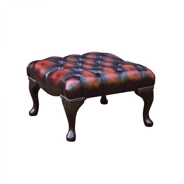 Chesterfield 18x18 voetstoel