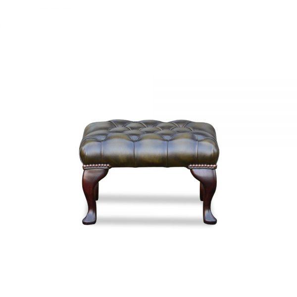 18x18 voetstoel - antique green
