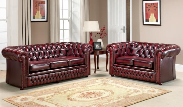 Burnley 3 + 2 zits - antique red