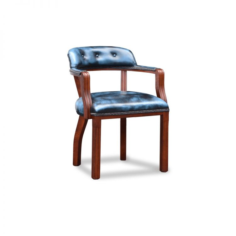 Court diner chair - antique blue