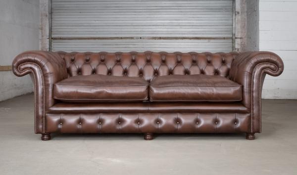 Edinburgh 3 zits - antique brown