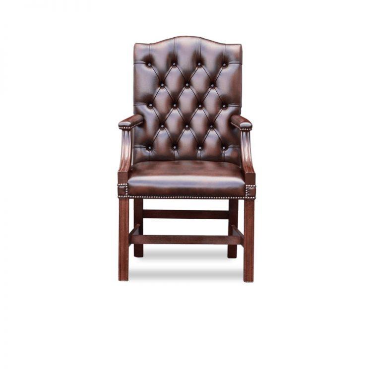 Gainsborough carver chair - antique dark rust