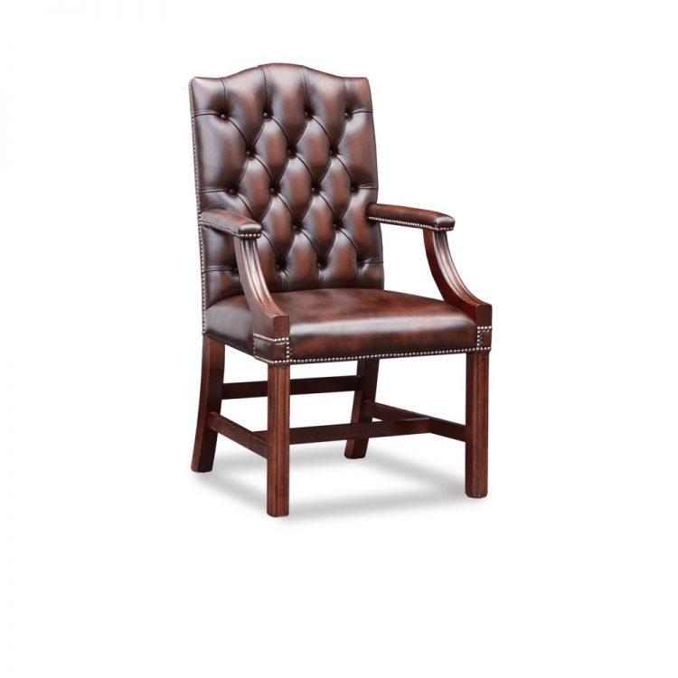 Gainsborough carver chair - antique chestnut