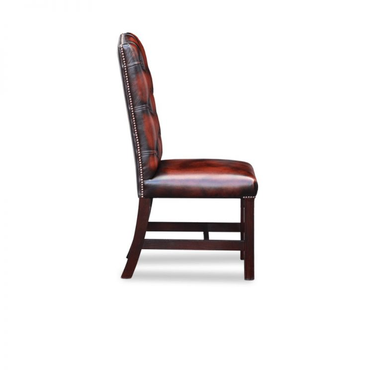 Gainsborough diner chair - antique dark rust