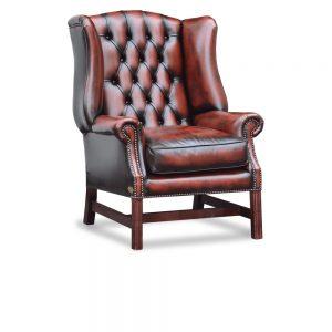 Georgian high chair - antique dark rust