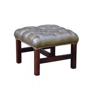 Chesterfield Georgian voetstoel
