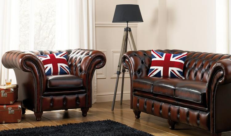 Herne bay 3 + fauteuil - antique dark rust