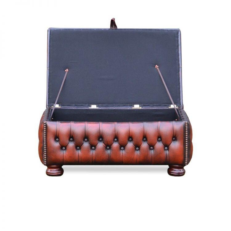 Norway slipperbox - antique light rust