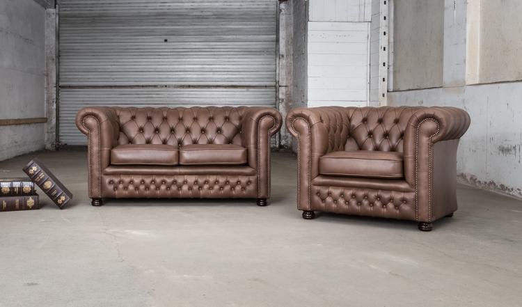 Rossendale 2 + 1 zits - hulshoff leather