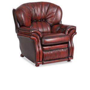 Sarah recliner - antique red