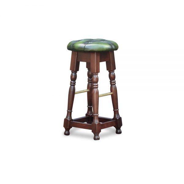 Tudor high barstool - antique green