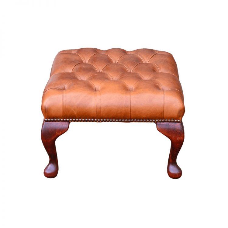 Chesterfield Queen Anne voetstoel