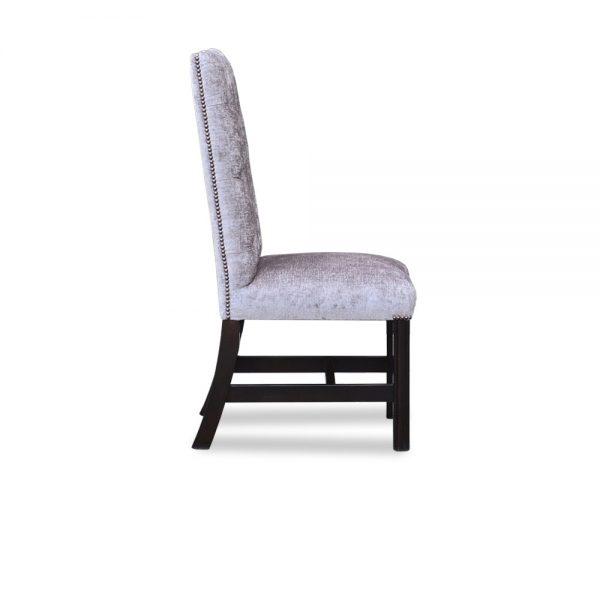 Gainsborough diner chair - velvet karina grey