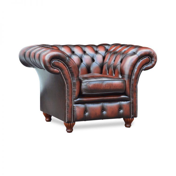 Hernebay fauteuil - antique dark rust