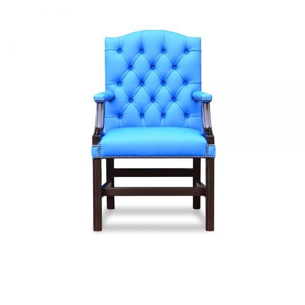 Gainsborough XL carver chair - shelly majolica blue