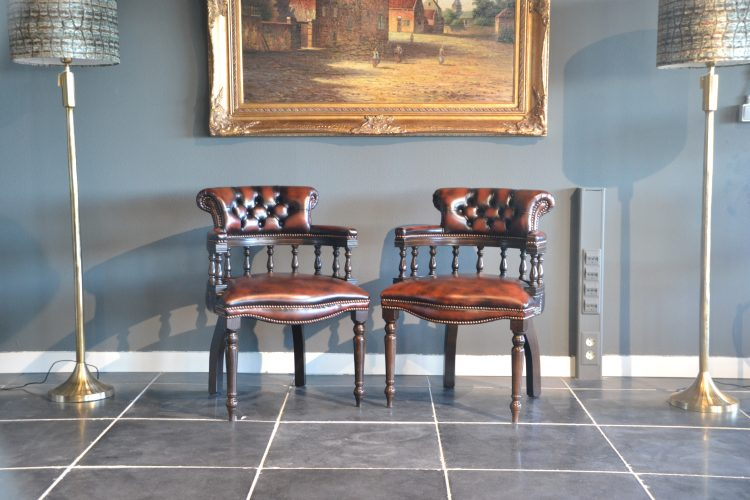 Captains chairs Dark Rust