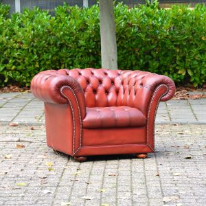 Fauteuil buttoned seat