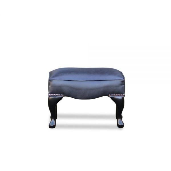 18x12 plain voetstoel - old English black