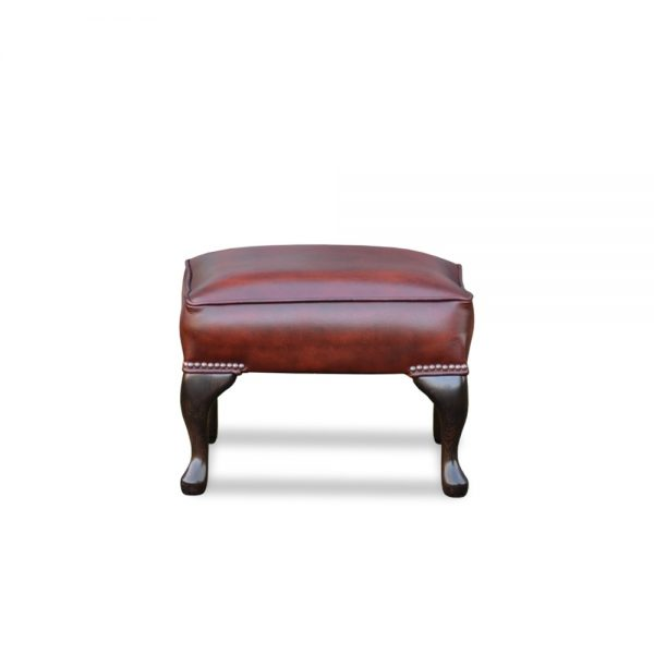 18x18 plain voetstoel - antique light rust