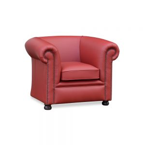 Burnley plain fauteuil - shelly crimson